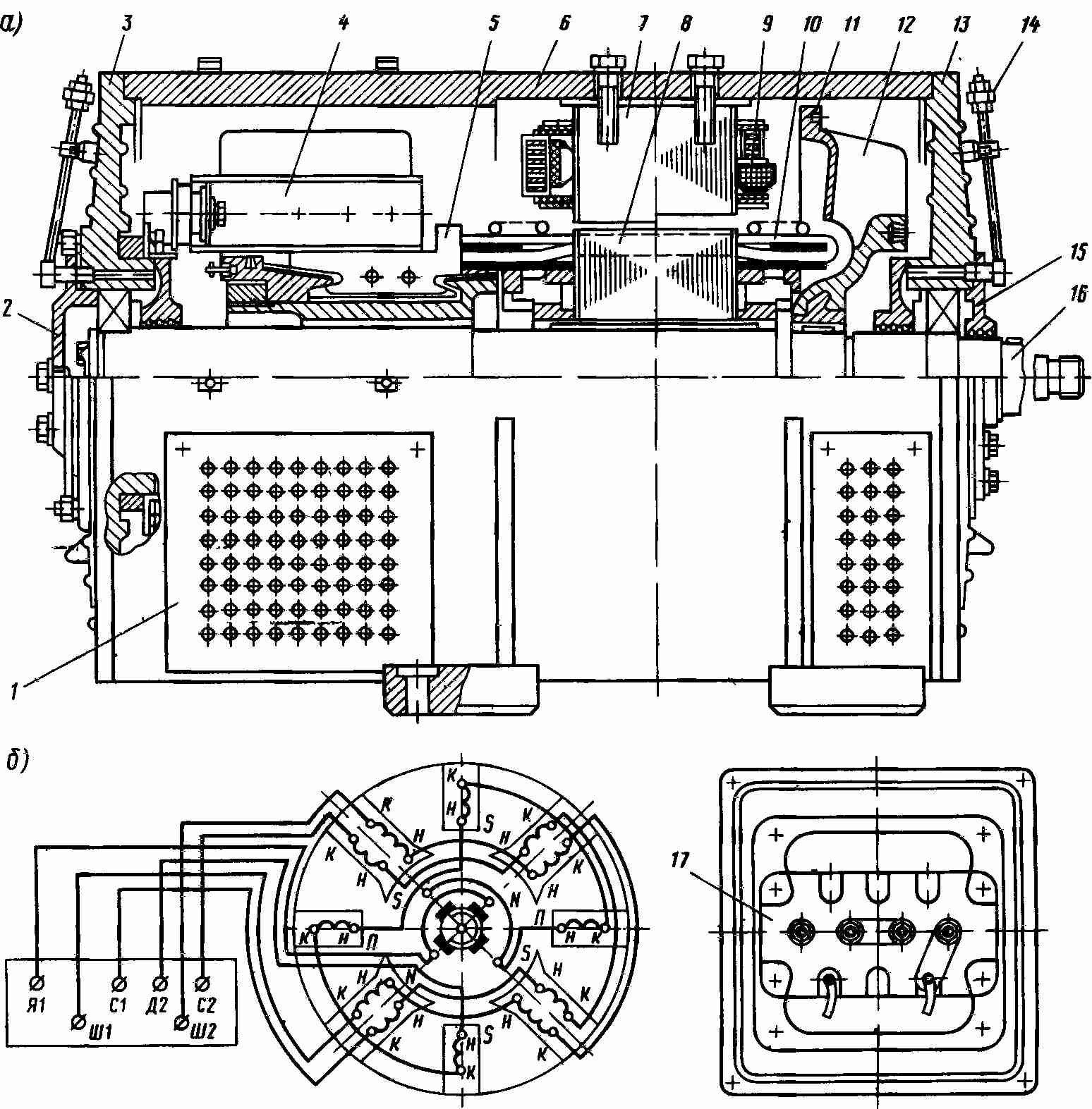 Схема синхронного генератора гс-60